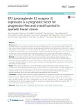 EP3 (prostaglandin E2 receptor 3) expression is a prognostic factor for progression-free and overall survival in sporadic breast cancer