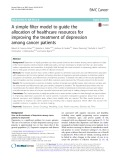A simple filter model to guide the allocation of healthcare resources for improving the treatment of depression among cancer patients