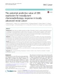The potential predictive value of DEK expression for neoadjuvant chemoradiotherapy response in locally advanced rectal cancer