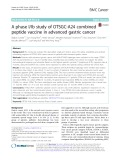 A phase I/Ib study of OTSGC-A24 combined peptide vaccine in advanced gastric cancer