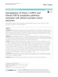 Dysregulation of Sirtuin 2 (SIRT2) and histone H3K18 acetylation pathways associates with adverse prostate cancer outcomes
