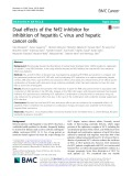 Dual effects of the Nrf2 inhibitor for inhibition of hepatitis C virus and hepatic cancer cells