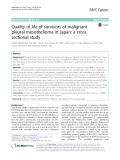 Quality of life of survivors of malignant pleural mesothelioma in Japan: A cross sectional study