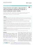 Serum leucine-rich alpha-2-glycoprotein-1 with fucosylated triantennary N-glycan: A novel colorectal cancer marker