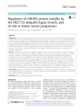 Regulation of CNKSR2 protein stability by the HECT E3 ubiquitin ligase Smurf2, and its role in breast cancer progression