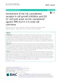 Involvement of the CB2 cannabinoid receptor in cell growth inhibition and G0/ G1 cell cycle arrest via the cannabinoid agonist WIN 55,212–2 in renal cell carcinoma