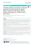 Clinically significant association of elevated expression of nuclear factor E2-related factor 2 expression with higher glucose uptake and progression of upper urinary tract cancer