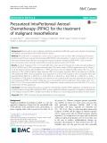 Pressurized IntraPeritoneal Aerosol Chemotherapy (PIPAC) for the treatment of malignant mesothelioma