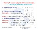 Bài giảng Xác suất thống kê - Chương 4: Các quy luật phân phối xác suất cơ bản
