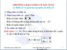 Bài giảng Xác suất thống kê - Chương 1: Đại cương về xác suất (31 trang)