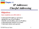 Lecture TCP-IP protocol suite (3/e): Chapter 4 - Behrouz Forouzan