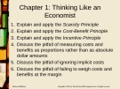 Lecture Principles of economics (2e): Chapter 1 - Robert H. Frank, Ben S. Bernanke