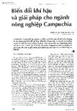 Biến đổi khí hậu và giải pháp cho ngành nông nghiệp Campuchia