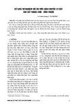 Kết quả thí nghiệm chế độ tưới luân chuyển ½ gốc cho cây thanh long – Bình Thuận