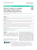 Vitamin D toxicity in a pediatric toxicological referral center; a cross-sectional study from Iran