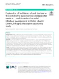 Exploration of facilitators of and barriers to the community-based service utilization for newborn possible serious bacterial infection management in Debre Libanos District, Ethiopia: Descriptive qualitative study