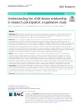 Understanding the child-doctor relationship in research participation: A qualitative study