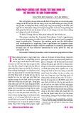 Biện pháp cưỡng chế trong tố tụng hình sự để thu hồi tài sản tham nhũng