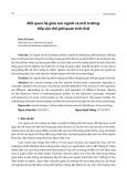 Mối quan hệ giữa con người và môi trường: Tiếp cận thế giới quan sinh thái