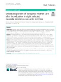 Utilization pattern of kangaroo mother care after introduction in eight selected neonatal intensive care units in China