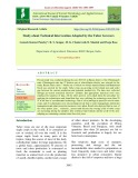 Study about technical intervention adopted by the tuber growers