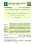 Study on marketing behaviour of the cashew farmers of Tamil Nadu