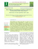 Effect of different levels of nitrogen and methods of application on growth and yield of garlic (Allium sativum L.)