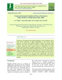 Trends and seasonal variation in prices of soybean in major markets of Maharashtra state, India