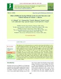 Effect of different sowing methods on the growth characters and yield of soybean in vertisol - A review