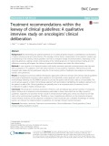 Treatment recommendations within the leeway of clinical guidelines: A qualitative interview study on oncologists' clinical deliberation