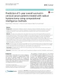 Prediction of 5–year overall survival in cervical cancer patients treated with radical hysterectomy using computational intelligence methods