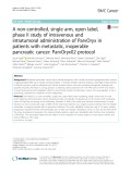 A non-controlled, single arm, open label, phase II study of intravenous and intratumoral administration of ParvOryx in patients with metastatic, inoperable pancreatic cancer: ParvOryx02 protocol