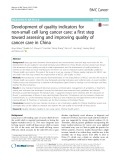 Development of quality indicators for non-small cell lung cancer care: A first step toward assessing and improving quality of cancer care in China