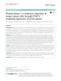 Protein kinase C α enhances migration of breast cancer cells through FOXC2- mediated repression of p120-catenin
