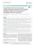 A systematic review of test accuracy studies evaluating molecular micro-satellite instability testing for the detection of individuals with lynch syndrome