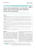 Venous thromboembolism and mortality in breast cancer: Cohort study with systematic review and meta-analysis