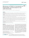 Effectiveness of PIVKA-II in the detection of hepatocellular carcinoma based on realworld clinical data