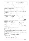 Tổng hợp 30 đề kiểm tra học kì 1 môn Toán lớp 7