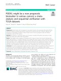 PODXL might be a new prognostic biomarker in various cancers: A metaanalysis and sequential verification with TCGA datasets