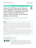 Design of the PROstate cancer follow-up care in Secondary and Primary hEalth Care study (PROSPEC): A randomized controlled trial to evaluate the effectiveness of primary care-based follow-up of localized prostate cancer survivors