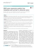 EMX2 gene expression predicts liver metastasis and survival in colorectal cancer
