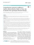 Comprehensive genomic profiling in routine clinical practice leads to a low rate of benefit from genotype-directed therapy