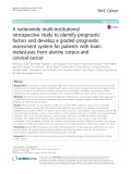 A nationwide multi-institutional retrospective study to identify prognostic factors and develop a graded prognostic assessment system for patients with brain metastases from uterine corpus and cervical cancer