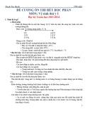 Đề cương ôn thi hết học phần - Môn: Vệ sinh thú y 1