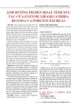 Ảnh hưởng ph đến hoạt tính xúc tác của enzyme lipasecandida rugosa và porcine pacreas