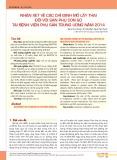 Nhận xét về các chỉ định mổ lấy thai đối với sản phụ con so tại Bệnh viện Phụ sản Trung ương năm 2014