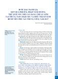 Bước đầu đánh giá kết quả phương pháp nuôi dưỡng trẻ sinh non nhẹ cân bằng cho ăn sớm tại Trung tâm Chăm sóc và Điều trị sơ sinh Bệnh viện Phụ sản Trung ương năm 2017