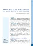 Mối tương quan giữa nồng độ của các tác nhân oxy hóa trong dịch nang và chất lượng phôi
