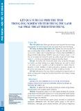 Kết quả nuôi cấy phôi thụ tinh trong ống nghiệm với tinh trùng trữ lạnh sau phẫu thuật trích tinh trùng