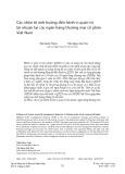 Các nhân tố ảnh hưởng đến hành vi quản trị lợi nhuận tại các ngân hàng thương mại cổ phần Việt Nam